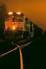 night train (Ben McLeod) Tags: flickrimportr longexposure night railroad train bow newhampshire
