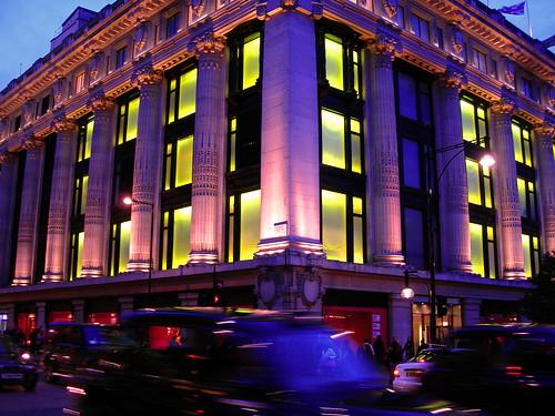 los almacenes Selfridges de Londres en Oxford Street