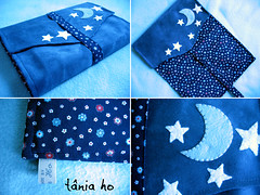 #115 capa azul lua (Tania Ho) Tags: bookcover crafts sewing