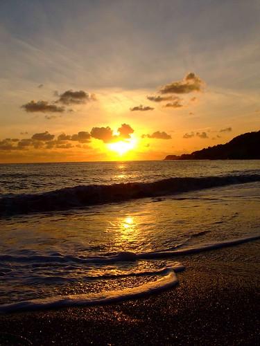 beach sunset. Ventnor Beach Sunset