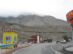 checkpoint, getting close to Tajikistan (uninvolved observer) Tags: 2005 china road travel mountains muslim xinjiang silkroad kashgar   g6 uyghur  ghez