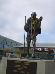 ghandi at the ferry building - by drain