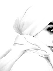 Oppression...? (~Aphrodite) Tags: woman interestingness women veil muslim islam headscarf oppression hijab modesty choice liberation minimalist controversial birdpoem misconception muslimculturesblogspotcom photophilosophy