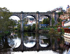 Knaresborough Bridge (JuanJ) Tags: bridge england art apple water photoshop wow macintosh landscape lumix mac cs2 lovely1 gorgeous yorkshire bridges panasonic eruope knaresborough fz northyorkshire fz30