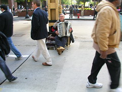 Accordion Player (eddieq) Tags: musician music chicago loop instrument accordianplayer