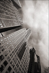 east 42nd street (davemacintosh) Tags: nyc blackandwhite streetphotography touchthesky