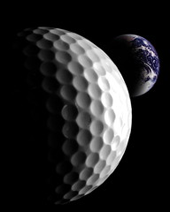 Moon Ball (gallow_chris) Tags: moon sport ball golf earth space planet chrisgallow allrightsarereserved