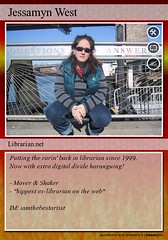 My trading card (jessamyn) Tags: me fdsflickrtoys tradingcard librariantradingcards jessamyn flickr:user=jessamyn
