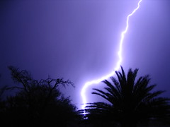 Lightning strike (pongboy) Tags: centre lightning storm thunder background purple sky grey