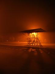 Close Encounter of the First Kind (Dave Ward Photography) Tags: 2005 road light orange usa station fog night dark geotagged us washington haze bestof glow darkness unitedstates alien foggy ufo best aliens gas 25 bellingham wa glowing rays praiseandcurseofthecity closeencounters fuel twentyfive klaatu davewardsmaragd mrklaatu geo:lon=122507836 geo:lat=48760966 pss:opd=1132722401