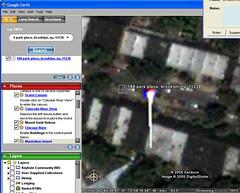 Freaky: Google Earth and Fire! (CatsFive) Tags: 2003 newyork strange topv111 topv2222 brooklyn fire interestingness google amazing interesting topv555 topv333 earth topv1111 topv999 freaky firetruck odd topv5555 topv777 topv3333 topv4444 brownstone topv6666 topv7777 catsfive dontmiss