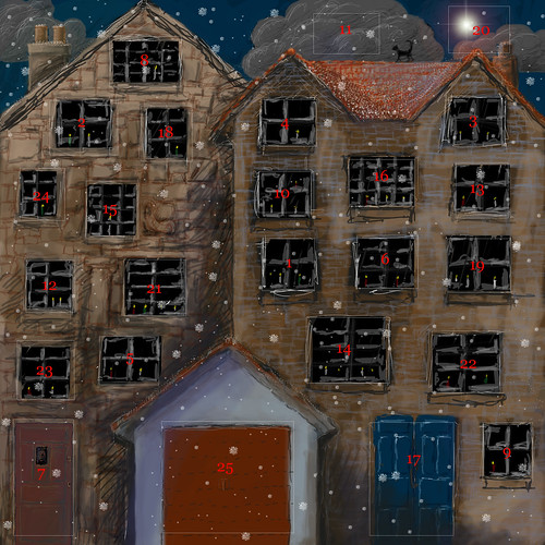 the completed advent calendar
