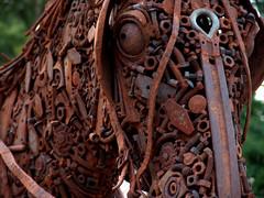 equine-art2 (sillydog) Tags: 2005 horse orange art animal oregon rust statefair fair urbannature salem publicart orangeandgreen oregonstatefair equine orangegreen