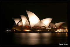 Opera house @ night (nune) Tags: 2005 travel light architecture night opera nightshot sydney australia operahouse specobject