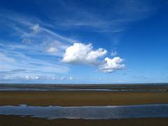 Infinite Beach (Cyron) Tags: blue sky beach topf25 water clouds geotagged photo sand flickr fluffy australia 2006 brisbane queensland zuiko sandgate cyron auspctagged zd 1445mm pc4017 geo:lat=27309639 geo:lon=153067237 1445mmf3556