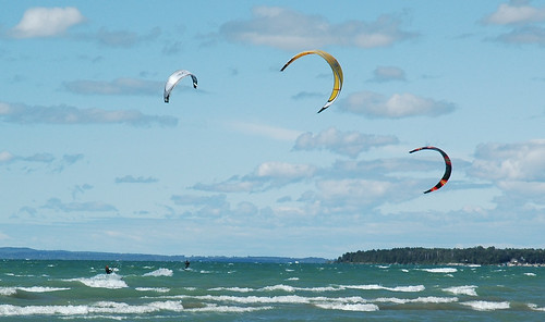 Kite Surfing, Georgian Bay