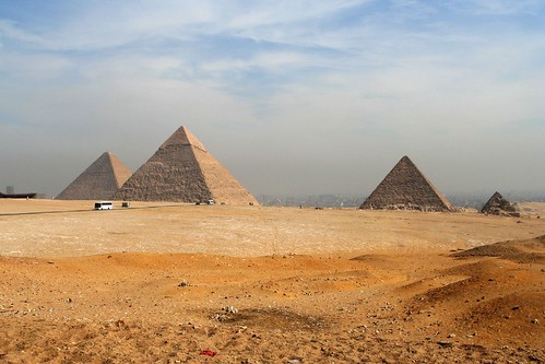 The Giza Pyramids by tom@hk