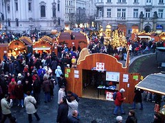Christmas Market Prague 2 December 2005 (fotoisto2005) Tags: christmas xmas city red people rot church rouge town europa europe prague market markets cities churches eu praha czechrepublic towns rosso bohemia oldtownsquare europeanunion cesky czerwony capitalcities europo starometske prago