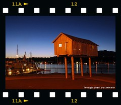 The Light Shed (taminator) Tags: longexposure canada night vancouver fdsflickrtoys publicart coalharbour lightshed