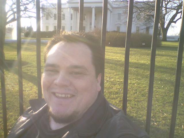 Me @ the White House on Pennsylvania Ave.