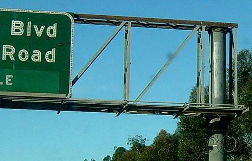 Razor wire on the freeway
