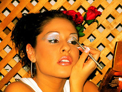 Candid Makeup 11 (Lightscapes) Tags: girl beautiful fashion female model pretty chica makeup babe mexican spanish teen latin latina brunette eyeshadow eyeliner lightscapes
