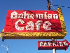 Bohemian Cafe sign