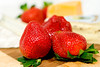 Monday night (Heather Leah Kennedy) Tags: food fruit cheese strawberry strawberries