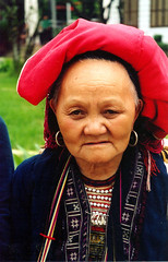 Ly Le Mei (KCHulsey) Tags: red woman vietnam elderly dao sapa