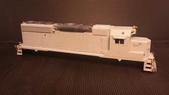 CSX - MOTHER (Road Slug Power Unit) GP40-2 #6457 - Stripped - HO Scale - Eng Side - Jun-7-15 - K. Crawley (dcmkris) Tags: atlas csx hoscale gp402 custompainted darkfuture roadslug mothermate