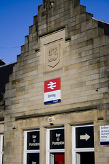 Stirling Railway Station frontage (Daniel Tetstall) Tags: stirling central scottish rail railway scotrail network mainline 2015 abellio canon1000d