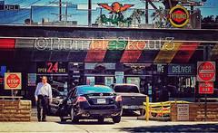 PoP (RumbleSkout3) Tags: california street red urban streetart losangeles raw driving urbanart popart fatburger deltaco donotenter wrongway badluck