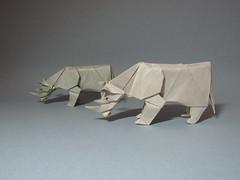 Rhinoceros - Nguyen Hung Cuong (rob.tad) Tags: origami papiroflexia rhinoceros nguyen vog dobradura