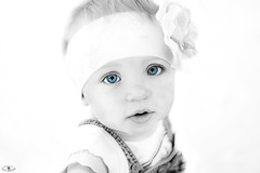Little cutie :) (yura777yura2) Tags: family portrait blackandwhite cute girl childhood photoshop children photography child blueeyes daughter postprocessing childreneyes yuriimanin
