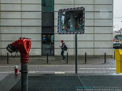 Colour and reflections on the street (Chris Gouge) Tags: life street city travel people urban holiday reflection architecture contrast germany mirror europe colours cologne explore everydaylife koln