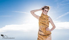 Salt Flat Plains (scottyvo) Tags: city blue white oklahoma girl beautiful fashion yellow hair scott photography clothing sand nikon dress desert cloudy designer salt jet danielle makeup flats dirt plains dear vo 2470mm d810