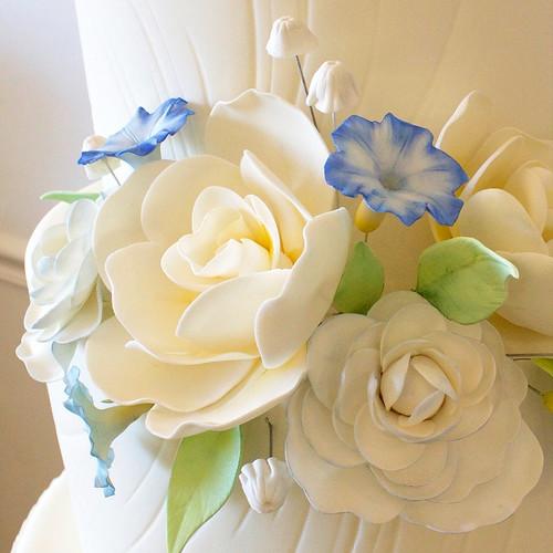 Close Up of Parasailing Wedding Cake
