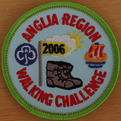 ANGLIA REGION WALKING CHALLENGE 2006 (Leo Reynolds) Tags: girl badge squaredcircle guide patch 2000s girlguiding xleol30x sqset117 xxx2015xxx