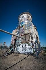 Water tower - rooftop (Vernamm2) Tags: plant rooftop nikon grafitti 21 body michigan explorer detroit explore fisher urbex fisherbodyplant21 explored