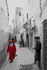Not invisible (kristin.mockenhaupt) Tags: marocco essaouira africa travel colorkey red niqab burka people