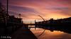 Dublin 17 December 16 2 (Helen Mulvey) Tags: dublin ireland sunrise samuel beckett bridge reflection riverliffey river silhouette long exposure dawn red sky clouds outdoor landscape cityscape city nikon d5100