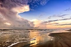 Seafoam Highlights (Adam Kyle Jackson) Tags: sunset sunrise morning galveston houston texas beaches shoreline coastline gulfofmexico gulfcoast gulf waves seafoam thunderstorm storm raining