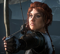 Rise of the Tomb Raider / At the Point of an Arrow (Stefans02) Tags: rise of tomb raider lara croft temple mine character portrait portraits hotsampling downsampling 4k 8k hotsampled beautiful dof games game screenshot screenshots digital art square enix tombraider rottr crystal dynamics survival close up closeup image composite editor outdoor indoor baba yaga ice cave landscape waterfall water people virtual virtualphotography videogames screencapture pcgaming societyofvirtualphotographers gaming