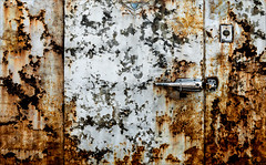 Fresh Frozen (Junkstock) Tags: aged abstract abstraction artifacts artifact altebenutztegegenstände corrosion corroded decay decayed distressed doors door downeast maine old oldstuff oldusedobjects photo photos photograph photographs photography paint patina peelingpaint rust rusty rusted rustyandcrusty texture textures weathered white