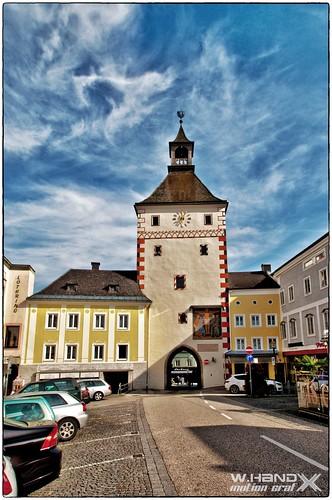 Vöcklabruck - Oberes Stadttor vom Stadtplatz