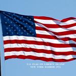 'U.S. Flag on Liberty Island' -- New York Harbor (NY) April 2016 thumbnail
