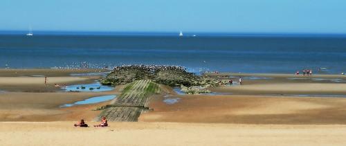 """""""Mer d'huile"""" La plage de Koksijde (Coxyde) Belgium"""