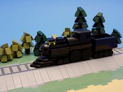 I Hear the Train A Comin' (cmaddison) Tags: lego train locomotive steam engine microscale black cowcatcher