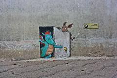 By: David Zinn (Campanero Rumbero) Tags: borås sweden suecia travel turismo trip day dia street calle anden art arte artista paint pintor pintura pincelada dibujo pared muro wall davidzinn callejero city ciudad