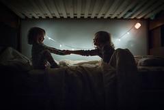 7| 365 (trois petits oiseaux) Tags: kids lowlight twins sisters bedtime